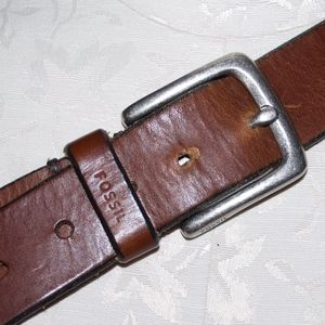 Fossil Brown leather Belt 40